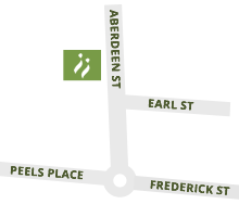 Map to Marshall Family Law office - Aberdeen Street, Albany - Parking available at rear